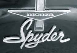 Turbocharged Corvair Monza Spyder badge