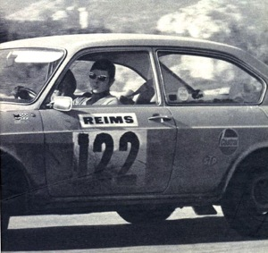 Gijs van Lennep and Jooks Klein in their VW 411 finishing 16th overall at the Rallye Monte-Carlo, 1969