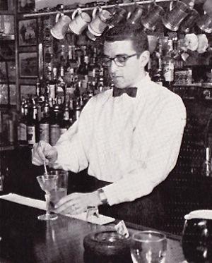 Joe Buzzetta mixing a Martini
