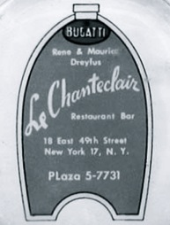 Logo from Le Chanteclair ashtray. Courtesy of l'art et l'automobile