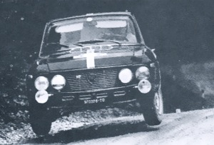 Hannu Mikkola and Anssi Järvi on the way to 2nd Overall in the 1968 Austrian Alpine Rally in their Fulvia 1.3 HF