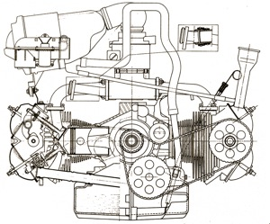 GS Engine Cross Sectional View