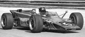 Emerson Fittipaldi at the wheel of the Lotus 56 Turbine, Italian Grand Prix, Monza, 5 September 1971