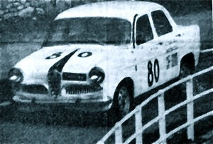 Angelo Caffi piloting his Giulietta TI to victory in the Tourismo 1300 Class in the 1964 Trofeo Vallecamonica