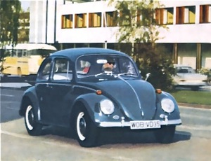 When Volkswagens were unique. This VW 1500, introduced in September of 1966, is one of the most coveted among collectors with its unique blend of big motor and disc brakes combined with the final appearance of the Beetle's original svelte bumpers and sloping headlamps.