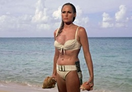 "Ursula Andress as Honey Ryder in ""Dr. No,"" the first James Bond film. No artificial ingredients."