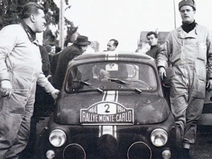 Walter Poltinger and Ernst Merinsky, 650 TR, Rallye Monte-Carlo, 1964