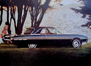 1962 Thunderbird Landau. A disquieting melding of contemporary lower body topped with a stylized roof culled from the days of flappers, speakeasies and bathtub gin.