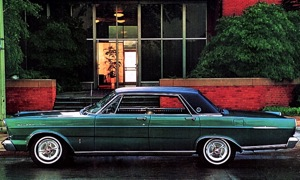 1965 Ford Galaxie 500 LTD in Ivy Green with Black vinyl top: