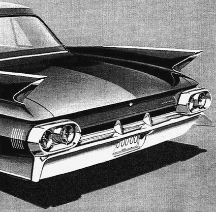 1961 Cadillac Fleetwood 60 Special. Airbrush on illustration board. Art Department, General Motors Photographic, 1960