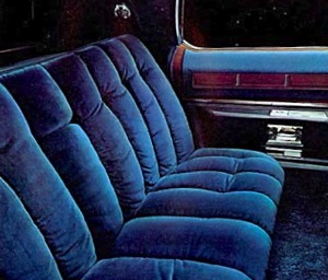 1975 Cadillac Fleetwood Talisman: Dark Blue Medici Crushed Velour