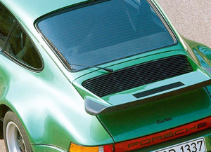 The 911 (930) Turbo was fitted with a rear wiper as standard equipment