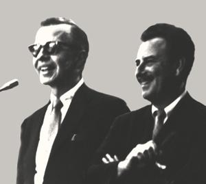 Art Fitzpatrick and Van Kaufman at Art Center College of Design, Los Angeles, California, 1965