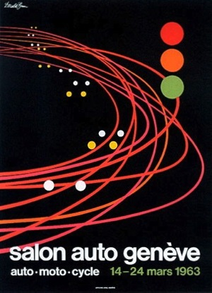 Salon International de l'Auto, Geneva Switzerland, March 1963