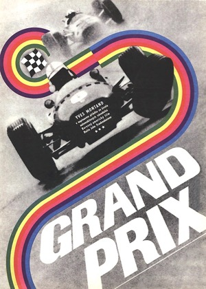 Grand Prix poster, Czech market, Eva Galová-Vodrázková