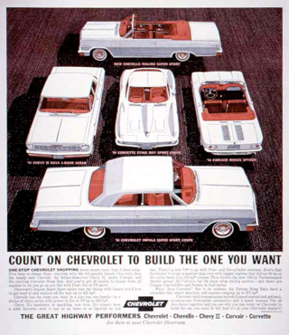 Count On Chevrolet To Build The One You Want; Highway Performers series, 1964
