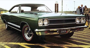 At the drag strip: 1968 Plymouth GTX