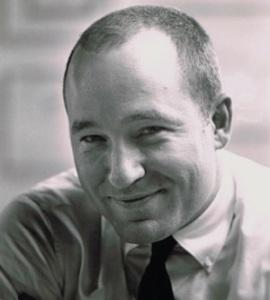 Jim Bernardin in his office at Campbell-Ewald, Detroit, Michigan, 1963