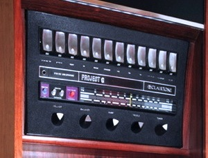 Early G with vertical control panel featuring rocker switches and triangular knobs