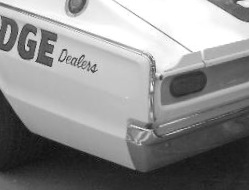 Cotton Owens Garage 1966 NASCAR Championship Charger with 14 first place trophies. The tiny spoiler helped bring home the bacon.